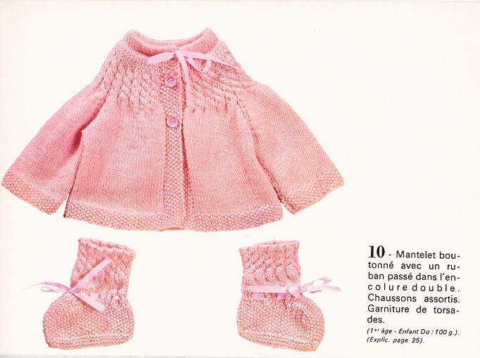 modele tricot layette telecharger