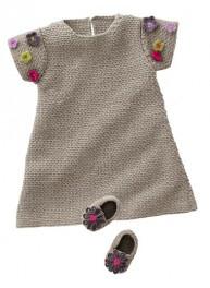 Tricot bébé : une robe pour baby girl