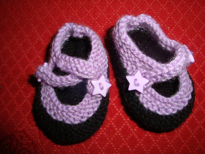 modèle tricot chausson nouveau ne