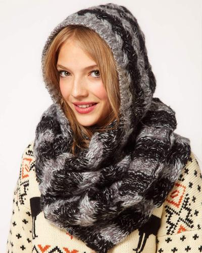tricoter une echarpe cagoule