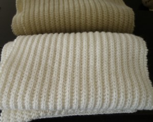 modèle tricot echarpe cote anglaise