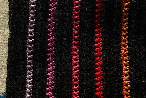 modèle tricot echarpe rayee