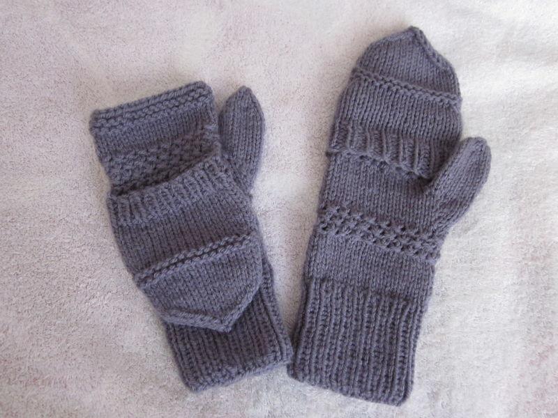 modèle mitaine en tricot