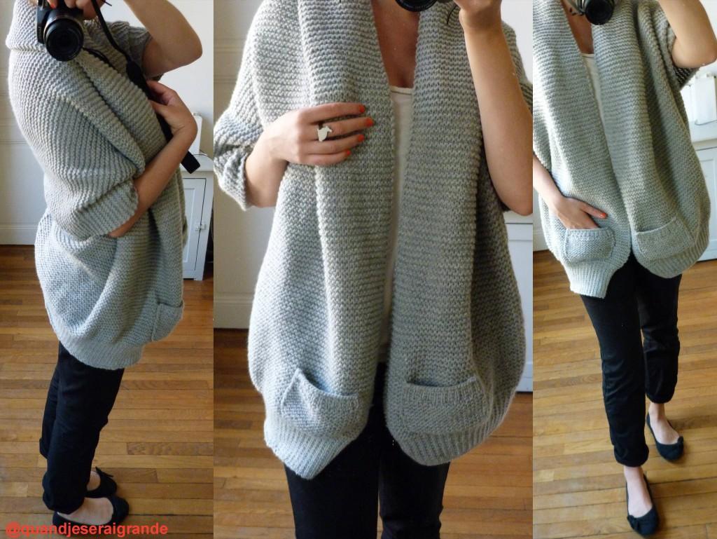 modèle tricot gilet hiver
