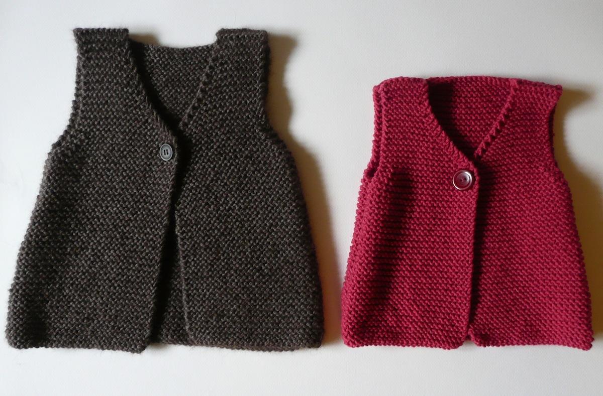 modele tricot pull sans manche fille