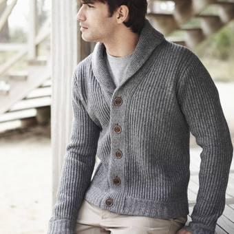 modèle à tricoter gratuit Gilet Homme Laine Katia Merino tweed