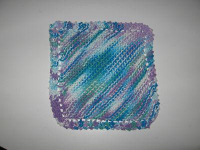tricoter une lavette a vaisselle