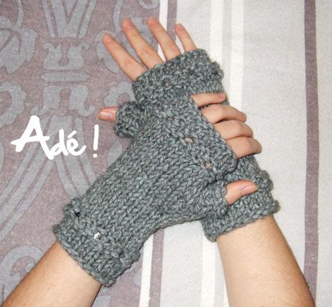 modele tricot mitaines sans doigts