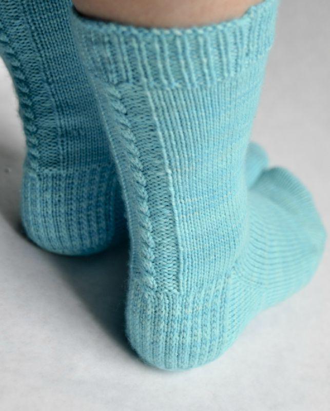 Mod le chaussette tricot simple - Modele tricot aiguille circulaire ...