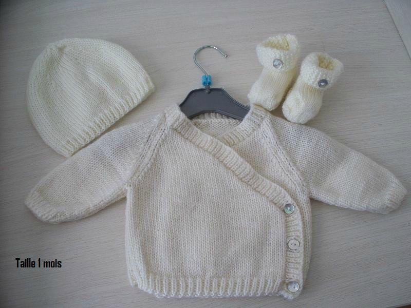patron tricot bébé naissance