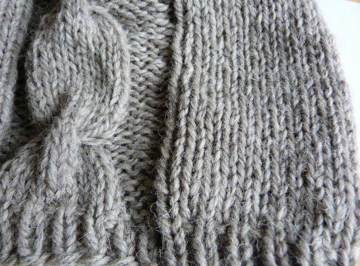 cr ation mod le tricot bonnet grosse laine. Black Bedroom Furniture Sets. Home Design Ideas