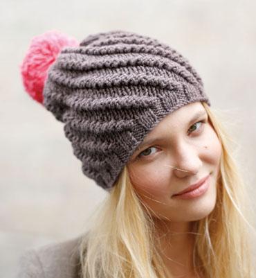 tricoter un bonnet homme avec pompon