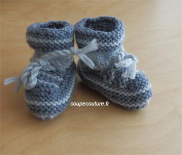 modèle tricot chaussette en laine