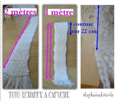 modèle tricot echarpe a frange