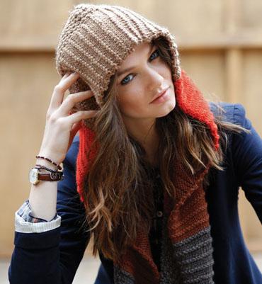 patron tricot echarpe capuche gratuit