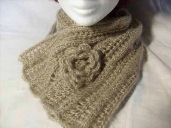 tricoter echarpe fantaisie