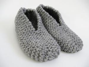 patron tricot chausson femme