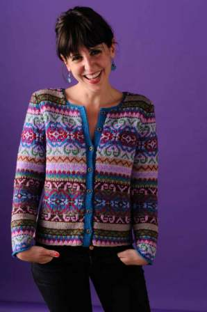 modèle tricot gilet jacquard femme