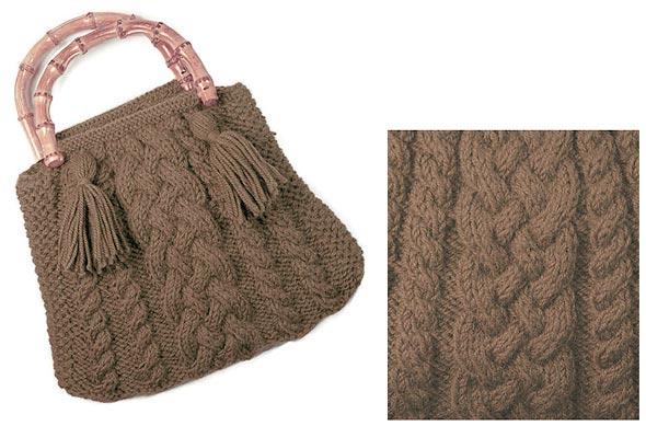 modèle tricot sac laine