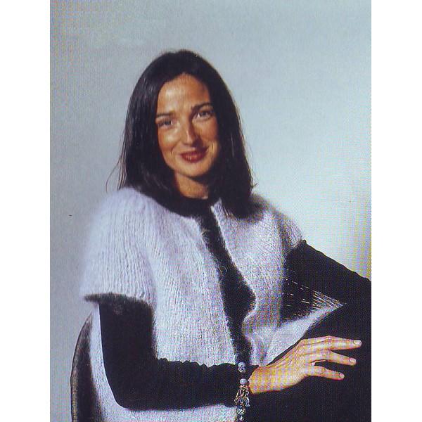 Patron tricot gilet femme - Grosse laine pour tricoter sans aiguille ...