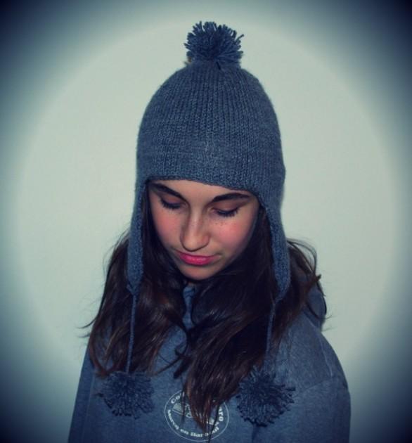 patron tricot bonnet peruvien