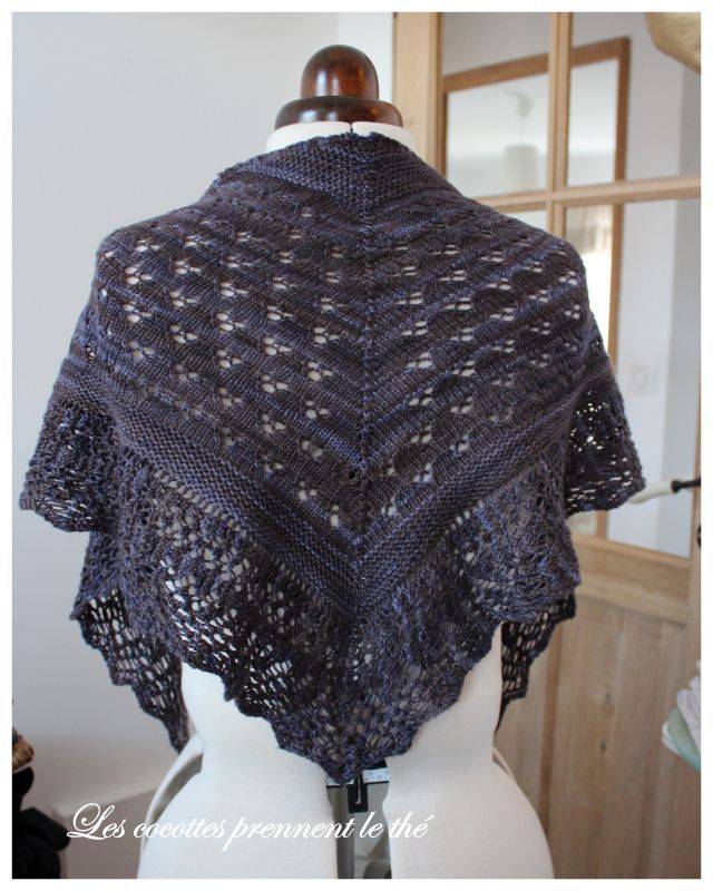 chale a tricoter modele