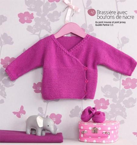 Patron tricot bebe fille gratuit - Modele tricot bebe gratuit debutant ...