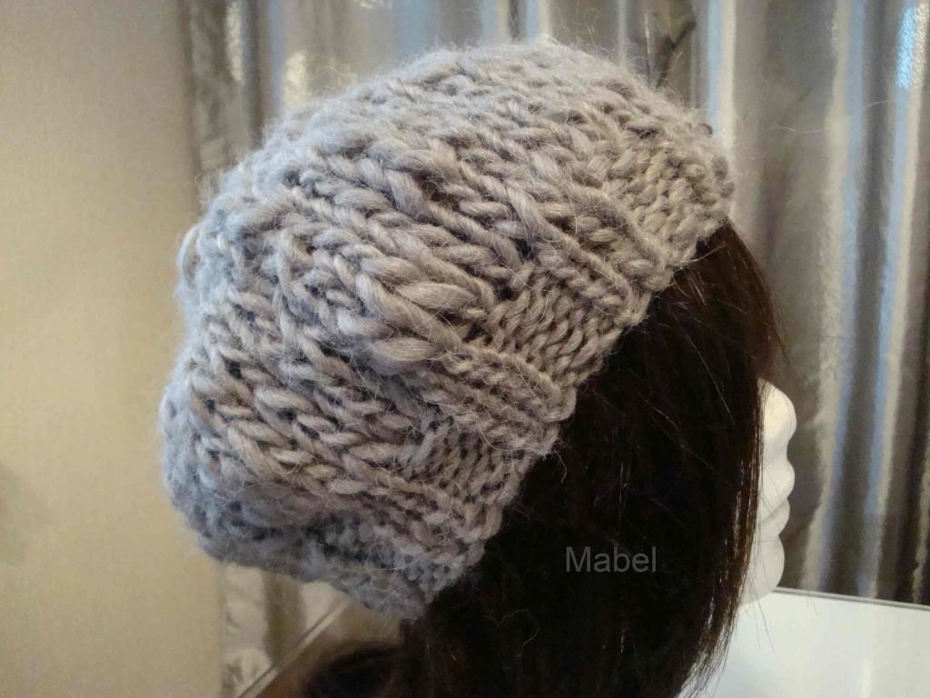 explication mod le tricot bonnet grosse laine. Black Bedroom Furniture Sets. Home Design Ideas