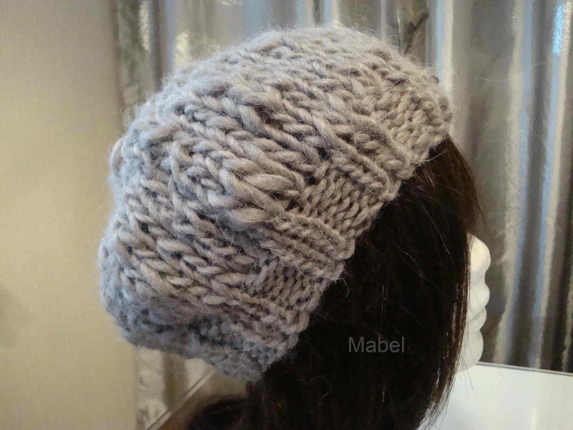 modele tricot bonnet grosse laine