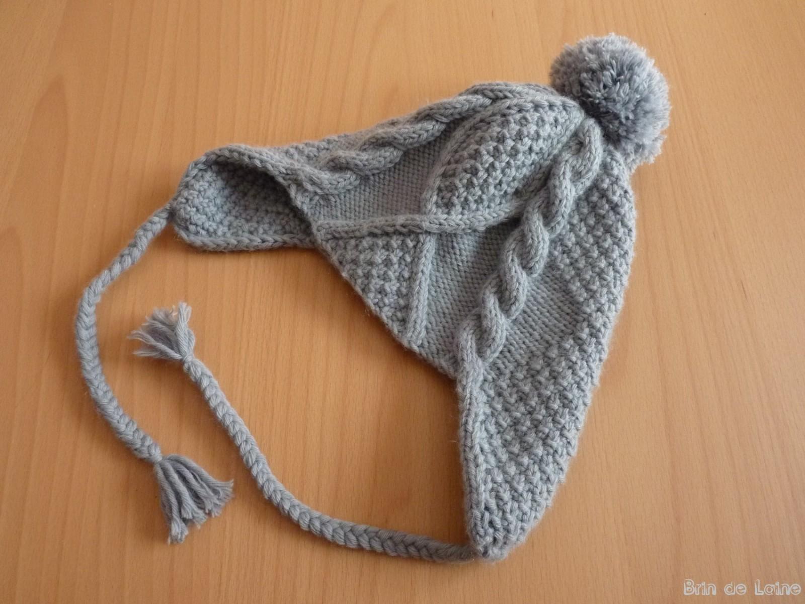 patron tricot bonnet peruvien gratuit