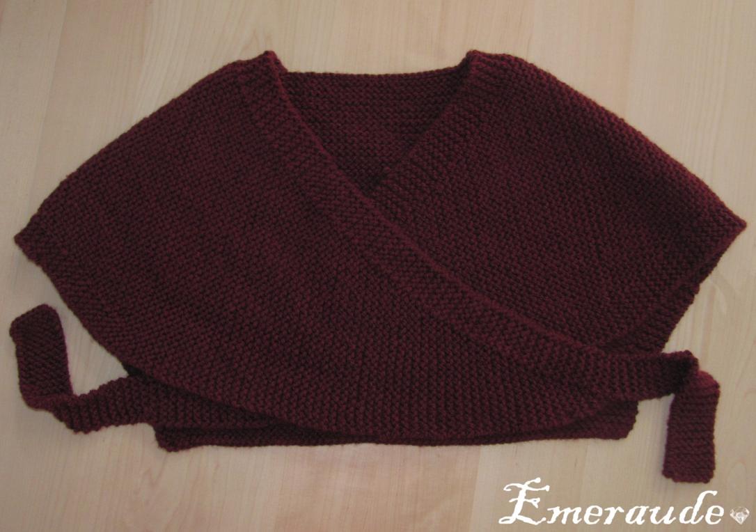 modele tricot cache coeur