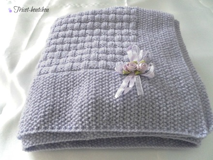 modele tricot bebe couverture