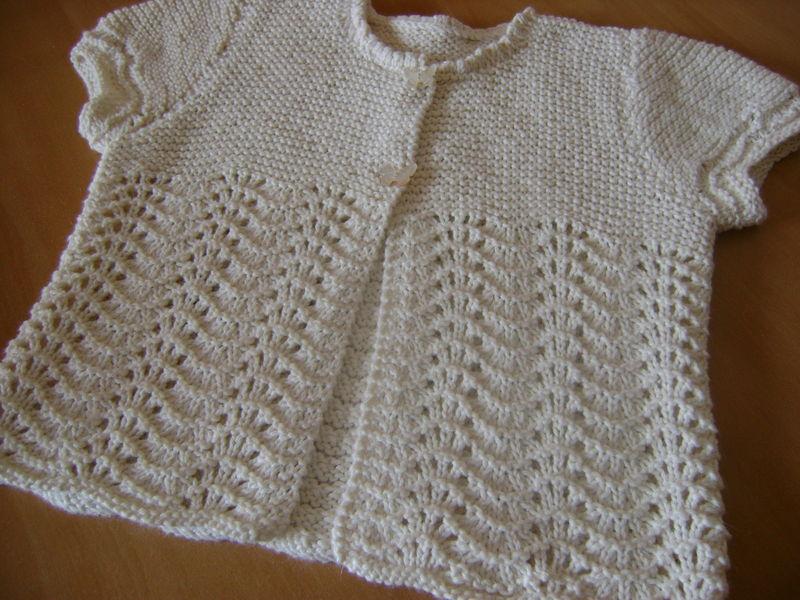 modèle tricot gilet 8 ans