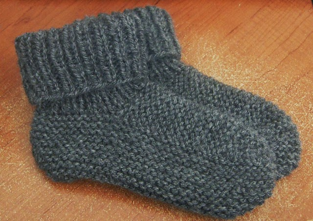 modele tricot chaussons adultes