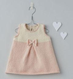 modele tricot robe bebe fille