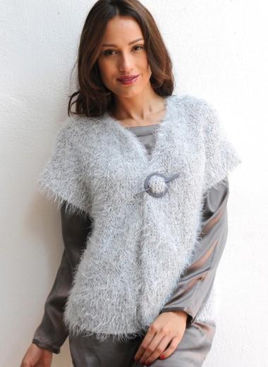 Explication mod le tricot veste sans manche femme - Tricot sans aiguille ...