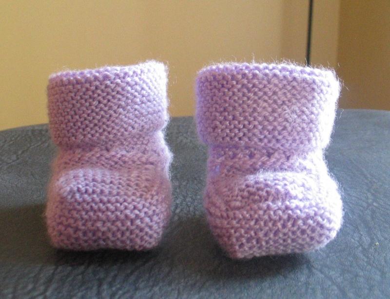 patron tricot chausson bébé