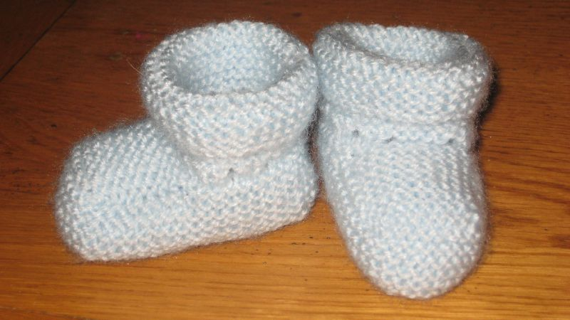 modele tricot chausson facile