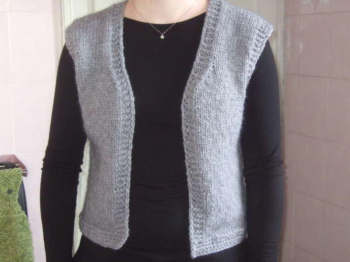 modele gilet sans manches a tricoter