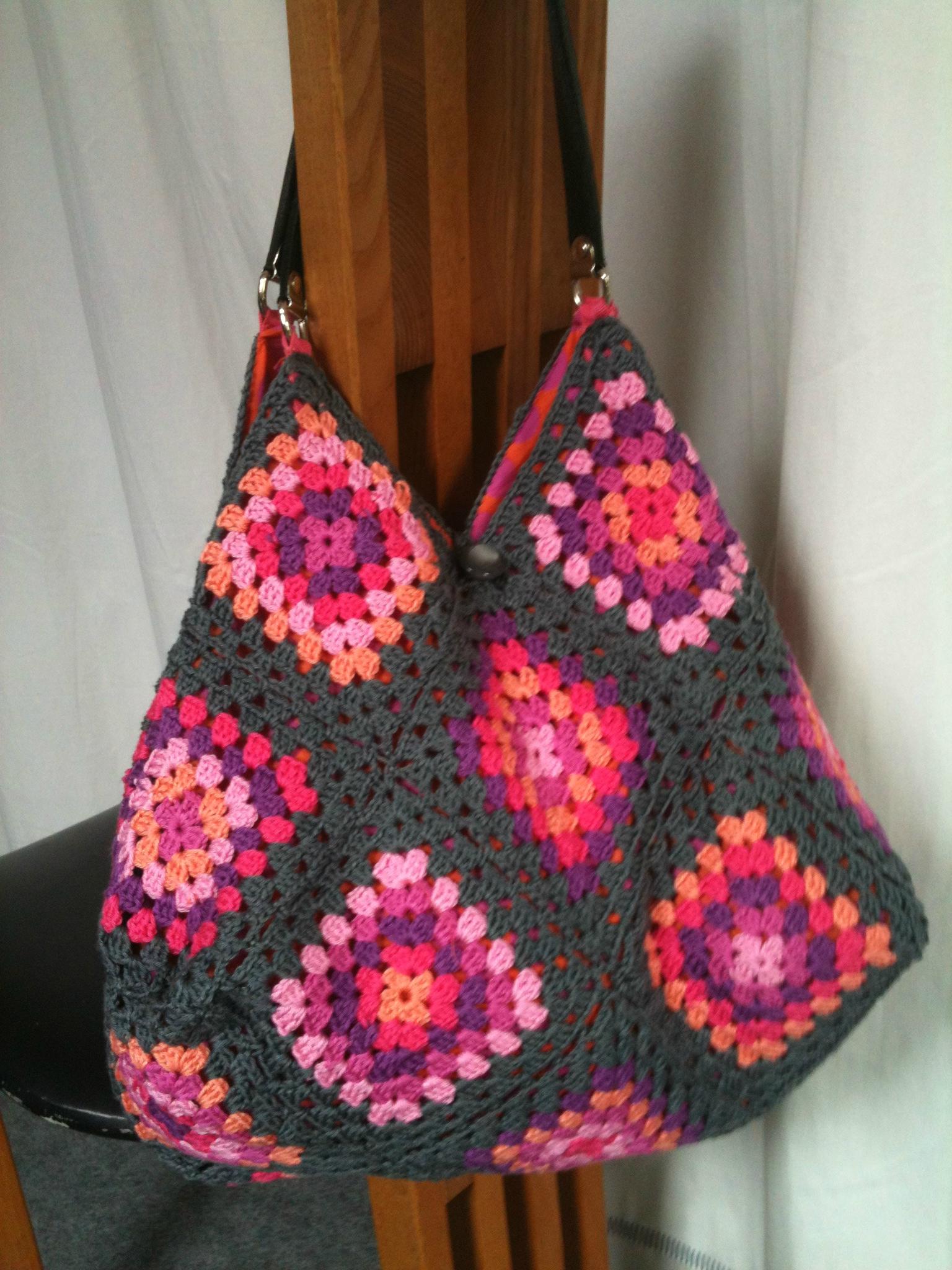 Modele De Sac Patchwork Gratuit : Mod?le sac tricot crochet