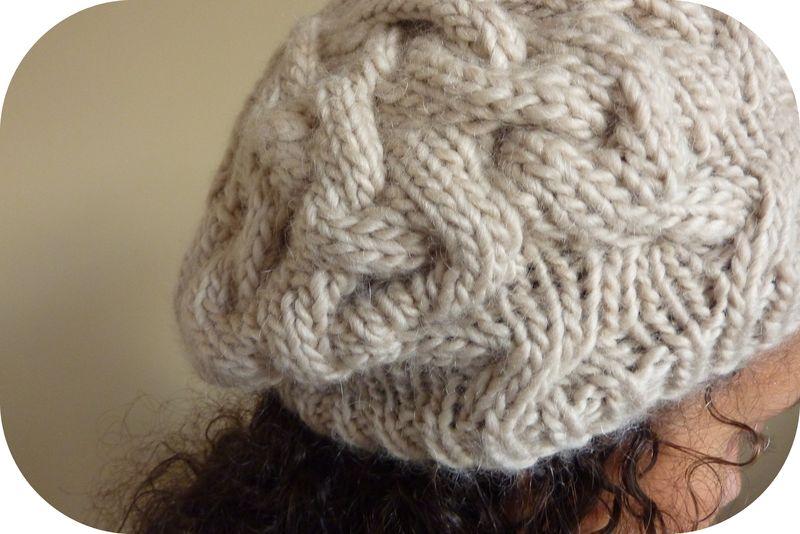 modèle tricot bonnet cocoon
