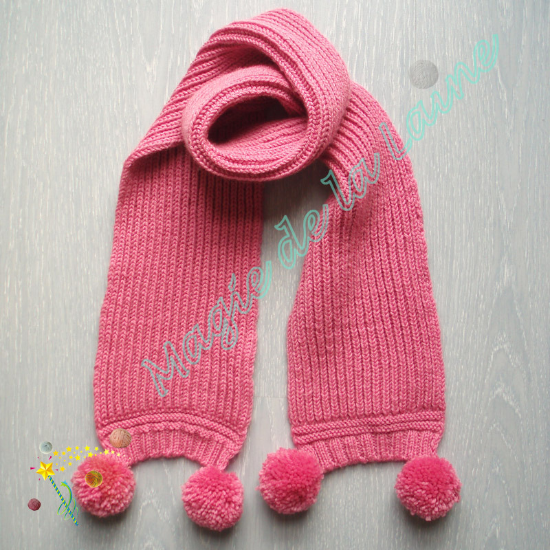 tricoter une echarpe pour petite fille