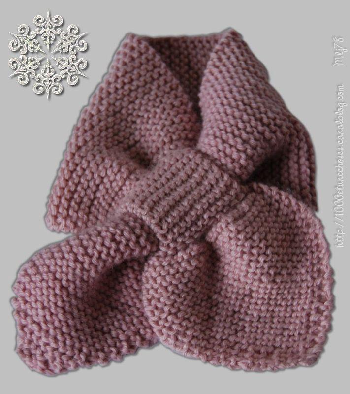 tricoter une echarpe fille