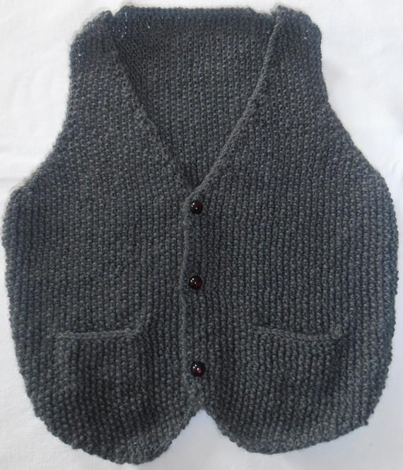 gratuit mod le tricot gilet sans manche b b. Black Bedroom Furniture Sets. Home Design Ideas