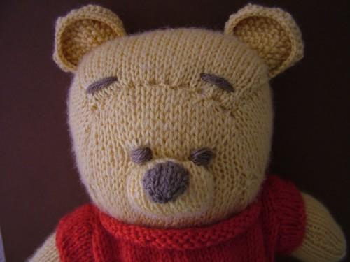 patron tricot ourson
