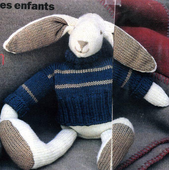 Mod le doudou au tricot gratuit - Creer un doudou pour bebe ...