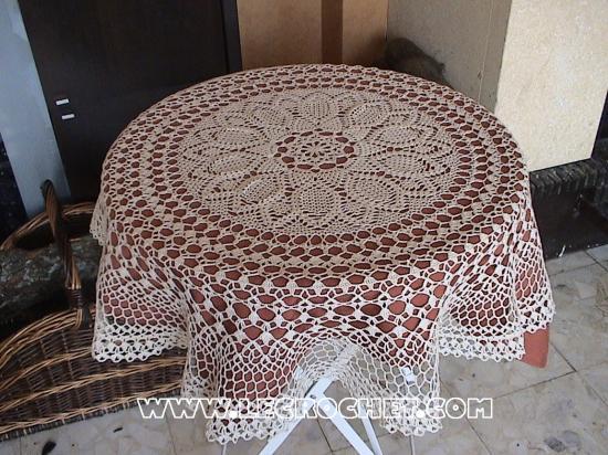 modèle nappe en tricot