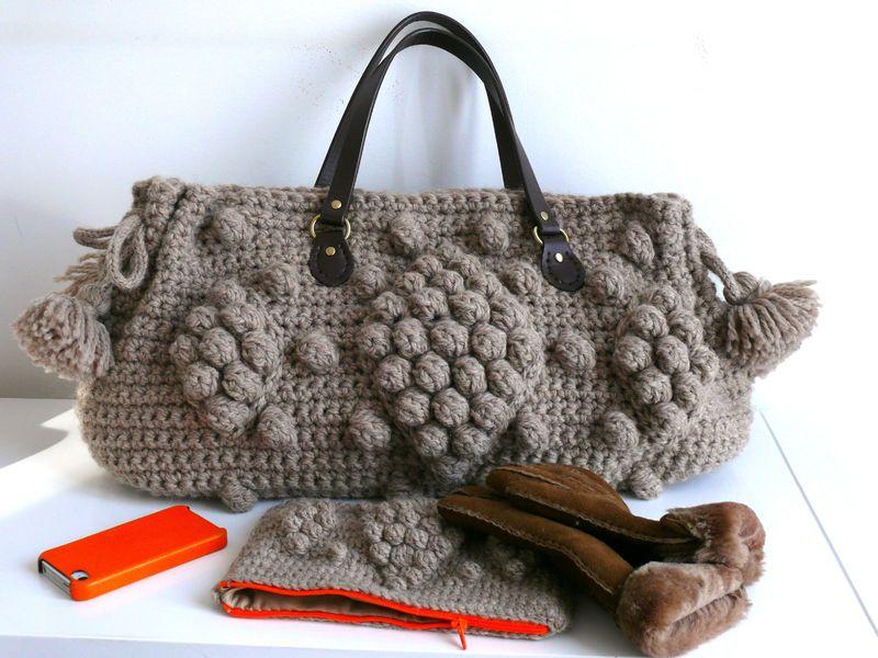 Mod le sac tricot crochet - Tuto pour creer un sac en crochet ...