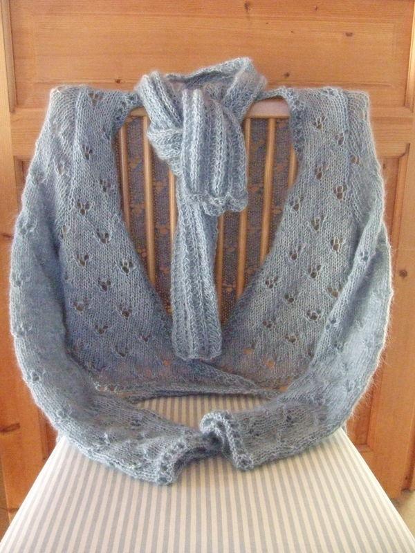 patron tricot cache coeur femme