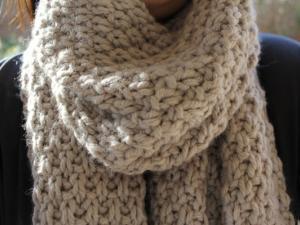 tricoter facilement une echarpe